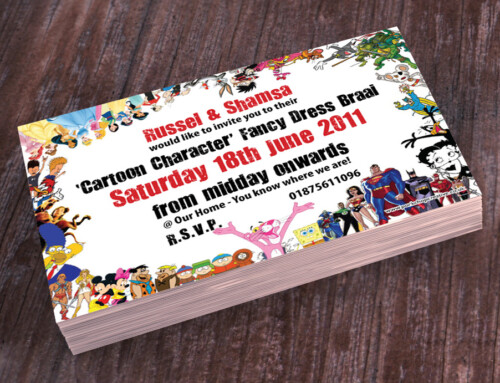 Fancy Dress Invite | Cartoon Characters Theme