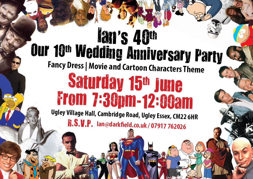 fancy dress party themed invites porkchop creative