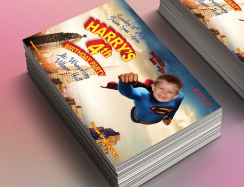 Superman Style Party Invites