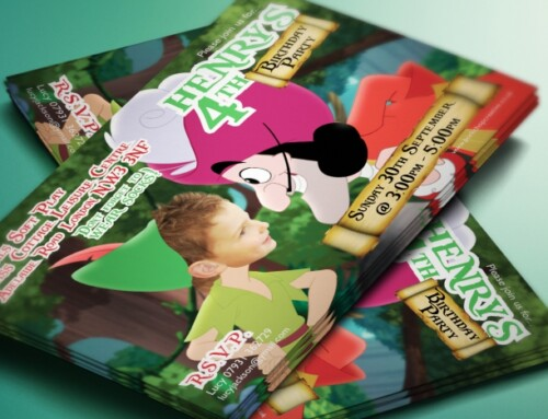 Peter Pan Style Party Invites