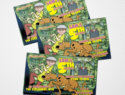 Scooby Style Party Invites