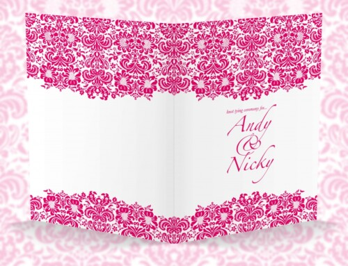 Pink Damask | Wedding Invitations