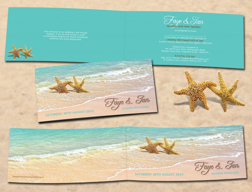 Starfish Wedding Invites