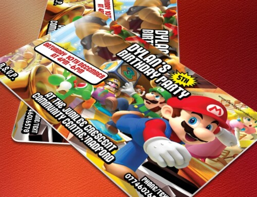 Supermario Party Invites
