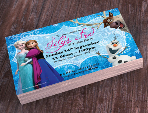 Frozen Party Invites