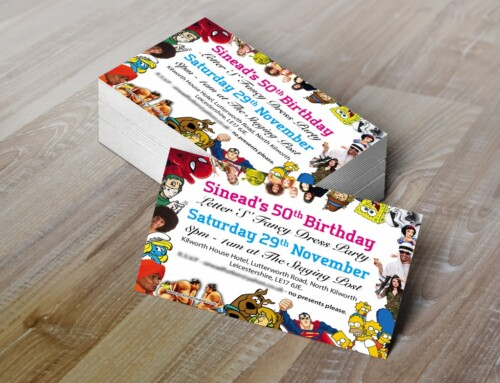 Letter 'S' Fancy Dress Invitations