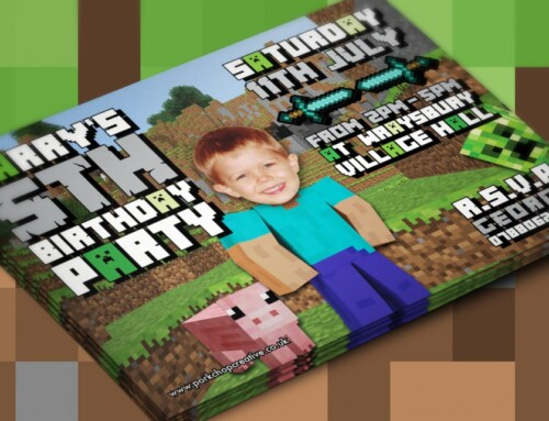 Minecraft Inspired Party Invites