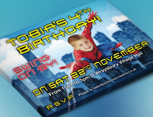 Spiderman Party Invites